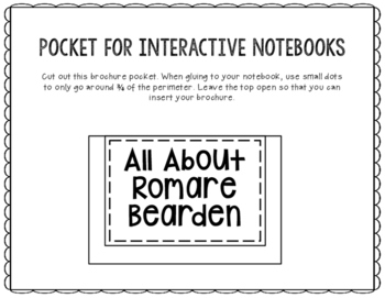 Romare Bearden - Famous Artist Biography Research Project, Interactive Notebook