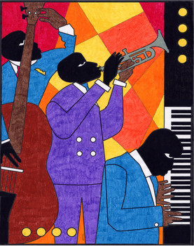 Romare Bearden Jazz Art
