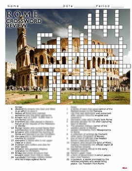 Ancient Rome Crossword Puzzle Review