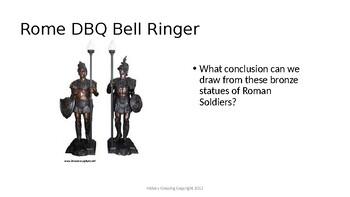Rome DBQ Bell Ringers