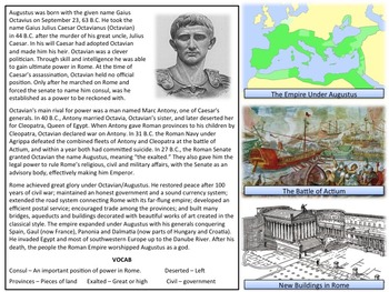 Rome - Good and Bad Emperors - Homework