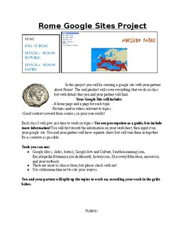 Rome Google Sites Project