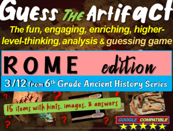 """Rome """"Guess the artifact"""" game: engaging PPT with pictures"""
