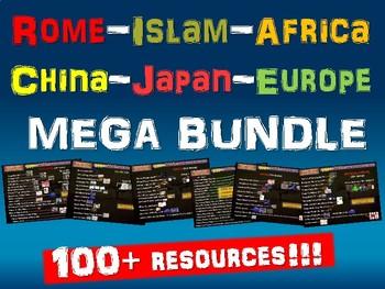Rome, Islam, Africa, China, Japan, Europe MEGA BUNDLE (100