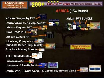 Rome, Islam, Africa MEGA BUNDLE (hundreds of slides, 50+ resources)