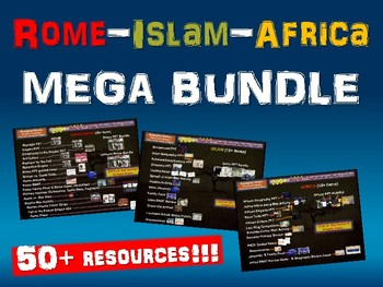 Rome, Islam, Africa MEGA BUNDLE (hundreds of slides, 50+ r