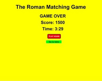 Rome Match Game - Bill Burton
