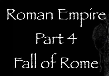 Rome Note Part 4 - Fall of Rome