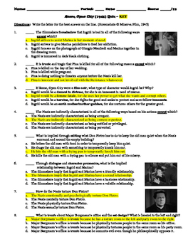 Rome, Open City Film (1945) 15-Question Multiple Choice Quiz
