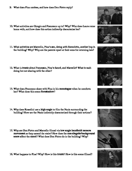 Rome, Open City Film (1945) Study Guide Movie Packet