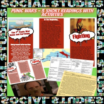 Rome: Punic Wars Lesson Plan with Guided Reading and Graphic Organizer