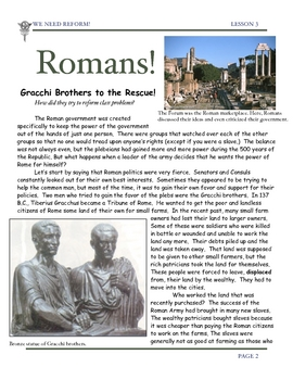 Rome: Reform in the Roman Empire by Gracchi Brothers by Don Nelson