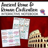 Rome: Republic to Empire & Civilization Interactive Notebook Unit 6th Grade INB