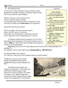 Rome: Roman Literature, Law, & Language by Don Nelson