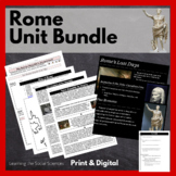 Rome Unit Bundle: PowerPoint w/ Notes, Test, Activities, Projects, and more!