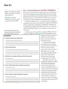 Rome Unit Modified Reading (Homework) Packet