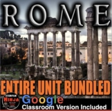 Ancient Rome Unit: PPTs, Worksheets, Plans, Test + Distance Learning Versions