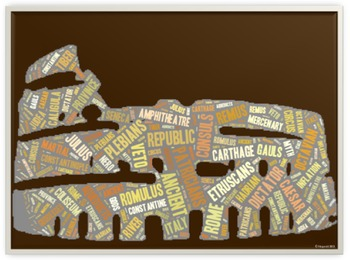 Rome Vocabulary image for Classroom Decoration Poster or Sign