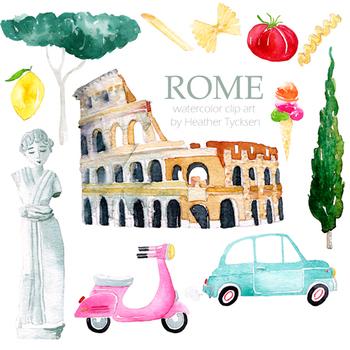 Rome Clipart Roman Clip Art Italy Travel Stickers