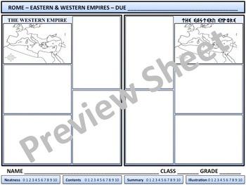 Rome - Western & Eastern Empires - Homework