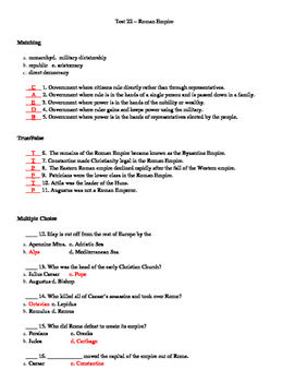 Rome and Early Christianity Test