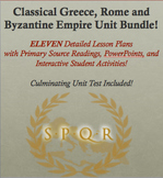 Classical Greece, Rome, and Byzantine Empire Unit Bundle