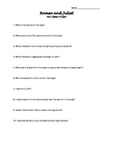 Rome and Juliet All Act/Scene Quiz Questions and Answers