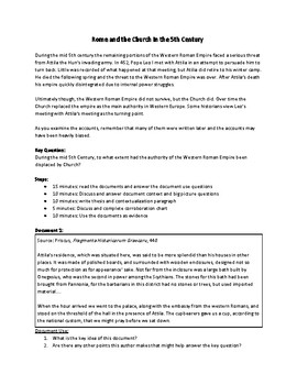 Rome and the Church in the 5th Century (AP World History - 2017-2018 Rubrics)
