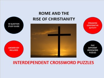 Rome and the Rise of Christianity: Interdependent Crossword Puzzles  Activity