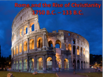 Ancient Rome and the Rise of Christianity-Power Point, Video, 5 days notes/quiz