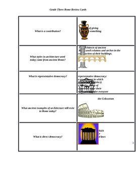 Rome flash cards