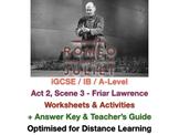 Romeo + Juliet: Act 2, Scene 3 - Friar Lawrence Analysis - Worksheet + ANSWERS