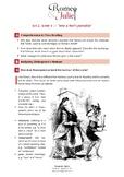 Romeo + Juliet: Act 2, Scene 4: Shakespeare's Humour - Worksheet + ANSWERS