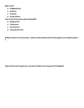 Romeo & Juliet Act 4 Quiz