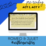 Romeo & Juliet - Act I, Scene v - Pre-Reading Activity - Masking Up for the Ball