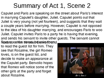 what is the summary of romeo and juliet