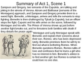 Romeo & Juliet: Act I Vocabulary and Scene Summaries