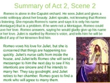 Romeo & Juliet: Act II Vocabulary & Scene Summaries