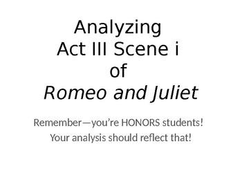 Romeo & Juliet Act III Scene i Analysis