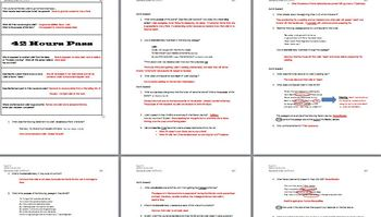 Romeo & Juliet Act IV & V Common Core Aligned Packet & Quizzes