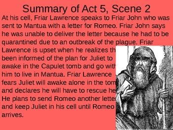Romeo & Juliet: Act V Vocabulary & Scene Summaries