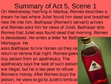 Romeo & Juliet: Act V Vocabulary & Scene Summaries
