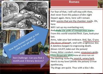 Romeo & Juliet Acting & Lit. Analysis Guide