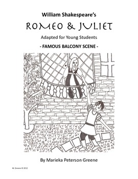 romeo juliet adapted balcony scene by kids love shakespeare tpt. Black Bedroom Furniture Sets. Home Design Ideas
