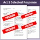 Romeo & Juliet: Assessment for Act Five (Test aligns with Common Core)