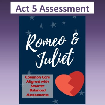 Romeo & Juliet: Assessment for Act Five (Test aligns with
