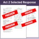 Romeo & Juliet: Assessment for Act Two (Test aligns with C