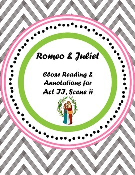 Romeo & Juliet Balcony Scene Annotations