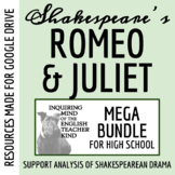 Romeo & Juliet Bundle - Reading Guide, Quizzes, Test, Close Reads & Keys
