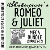 Romeo & Juliet Bundle - Reading Guide, Quizzes, Test, Close Reads & Keys